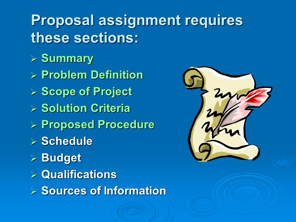 Proposals Three Major Types Research Proposal Proposes To Define