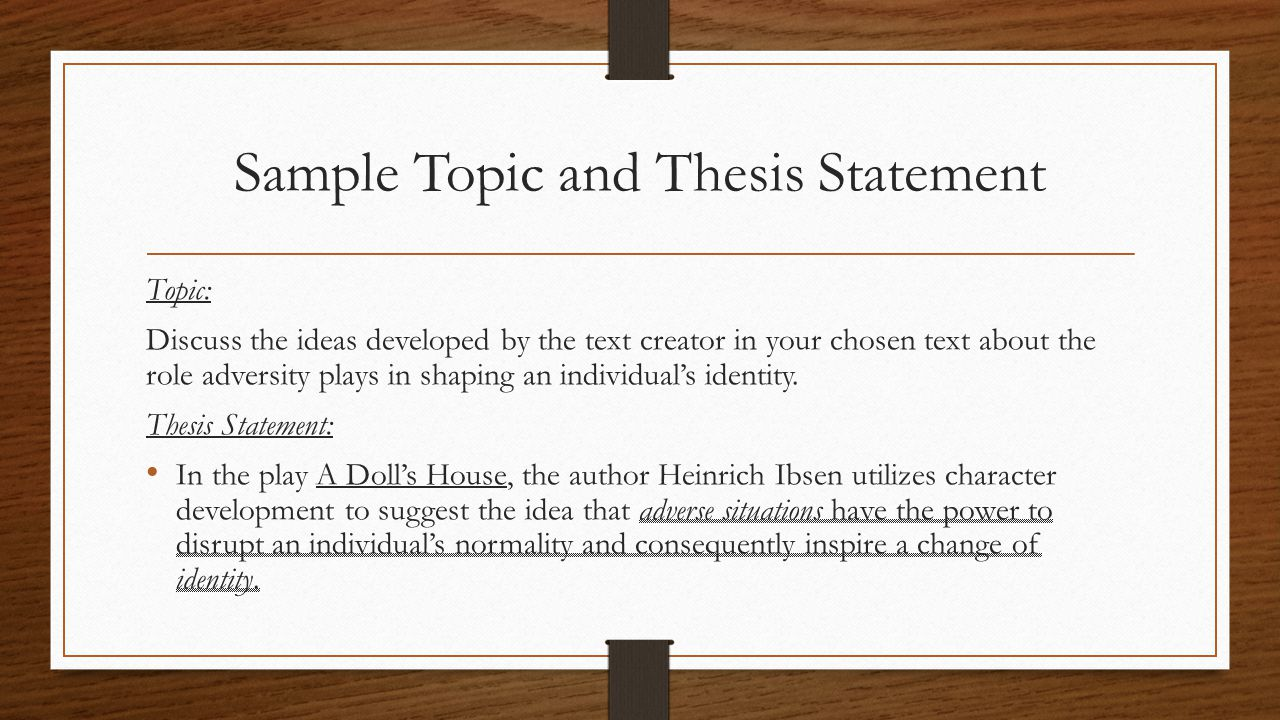 Create Thesis Statement Online