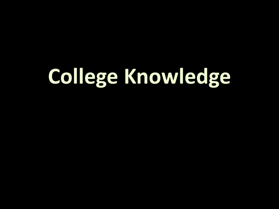 College Knowledge
