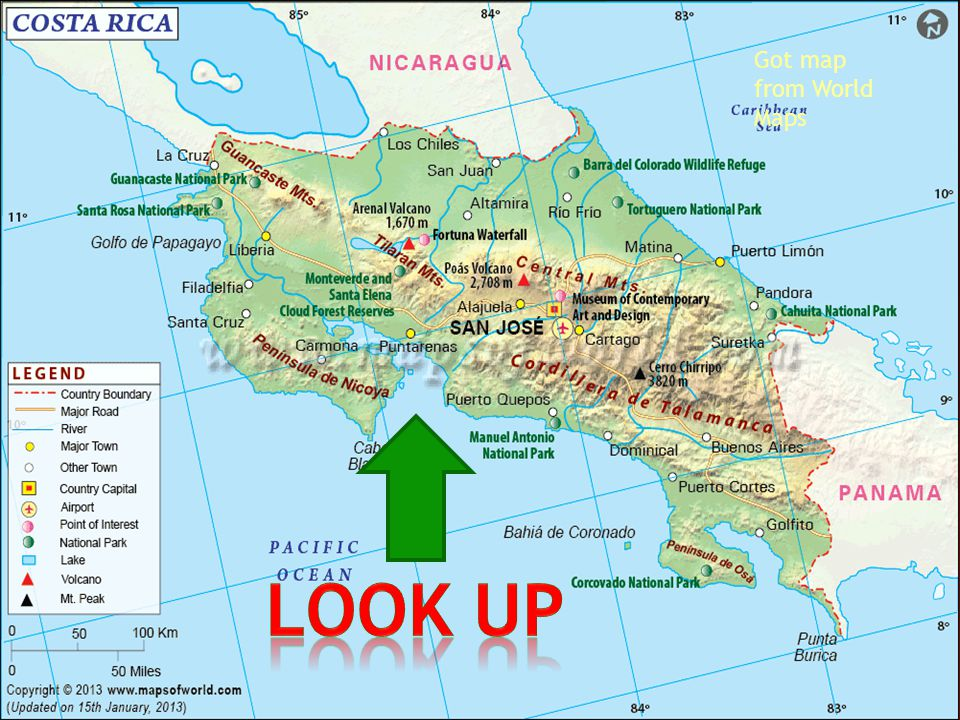 Got flag at world maps The population of Costa Rica is 4726575