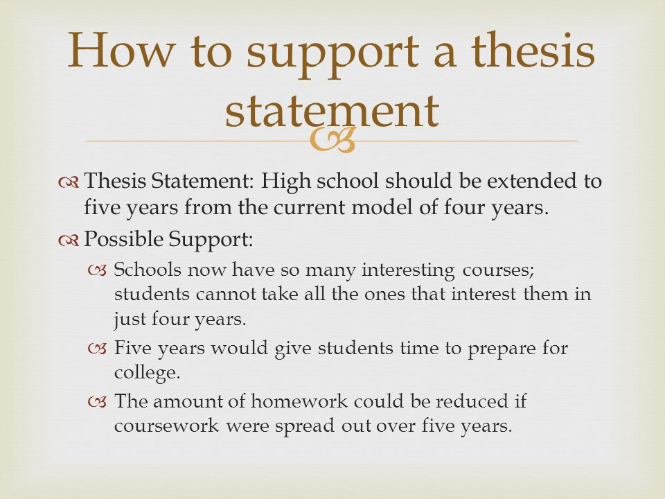 Check Thesis Statement
