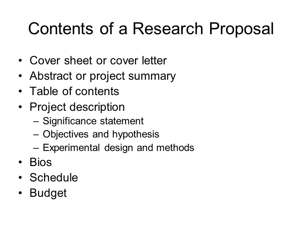 research proposal part b Part b: rise application guidance notes part b: the research proposal should be separated into 6 different headings: purpose, hypothesis, justification.