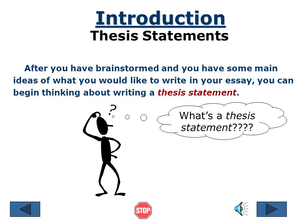 Great Thesis Statements
