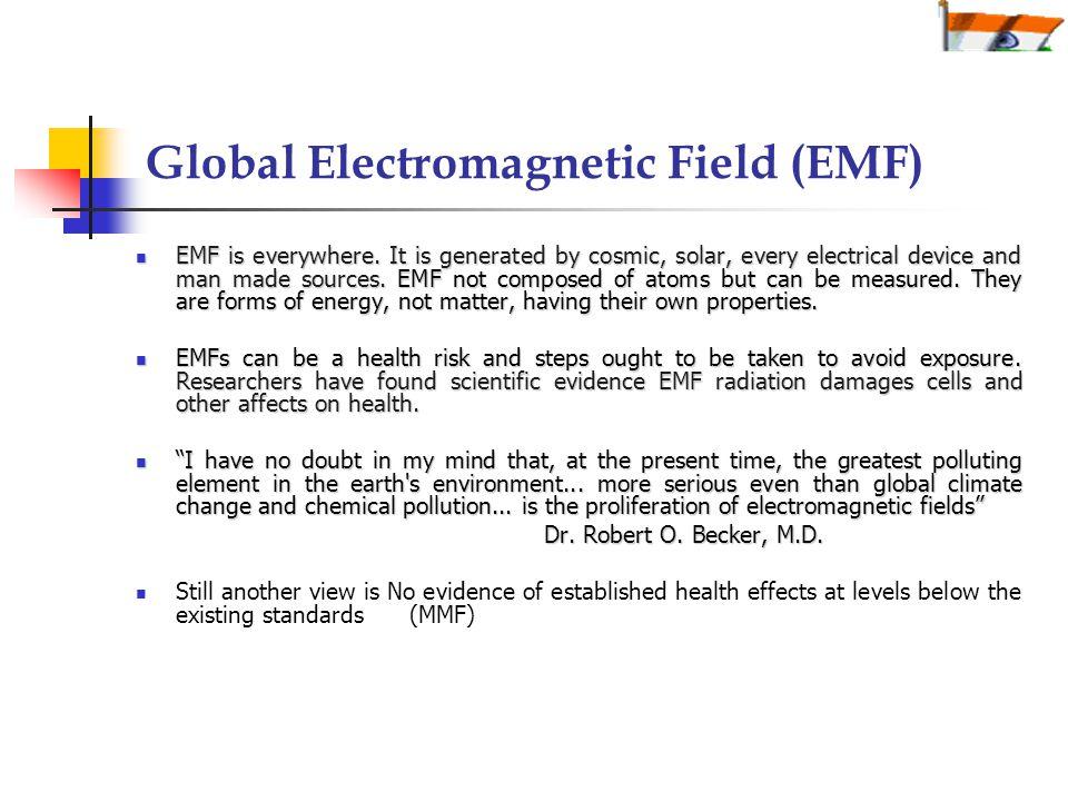 Global Electromagnetic Field (EMF) EMF is everywhere.