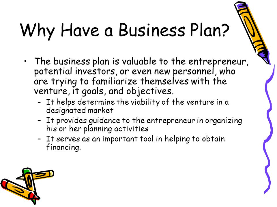 Why Have a Business Plan.