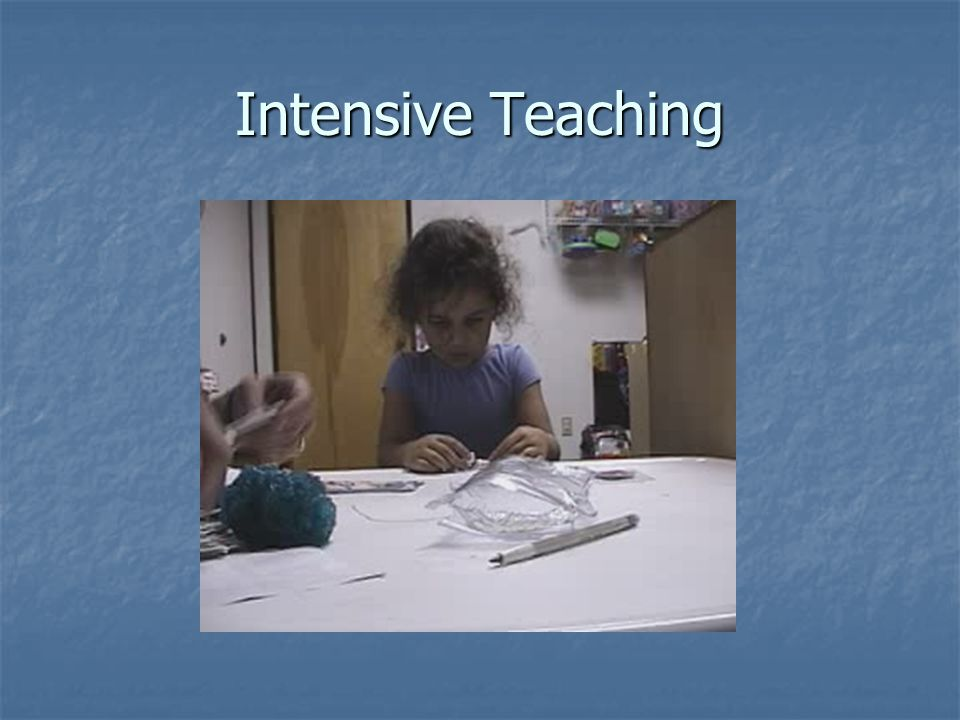 Intensive Teaching
