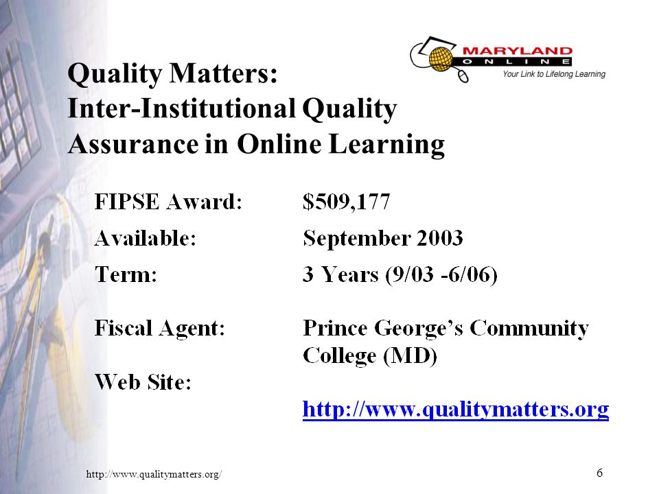 6 Quality Matters: Inter-Institutional Quality Assurance in Online Learning
