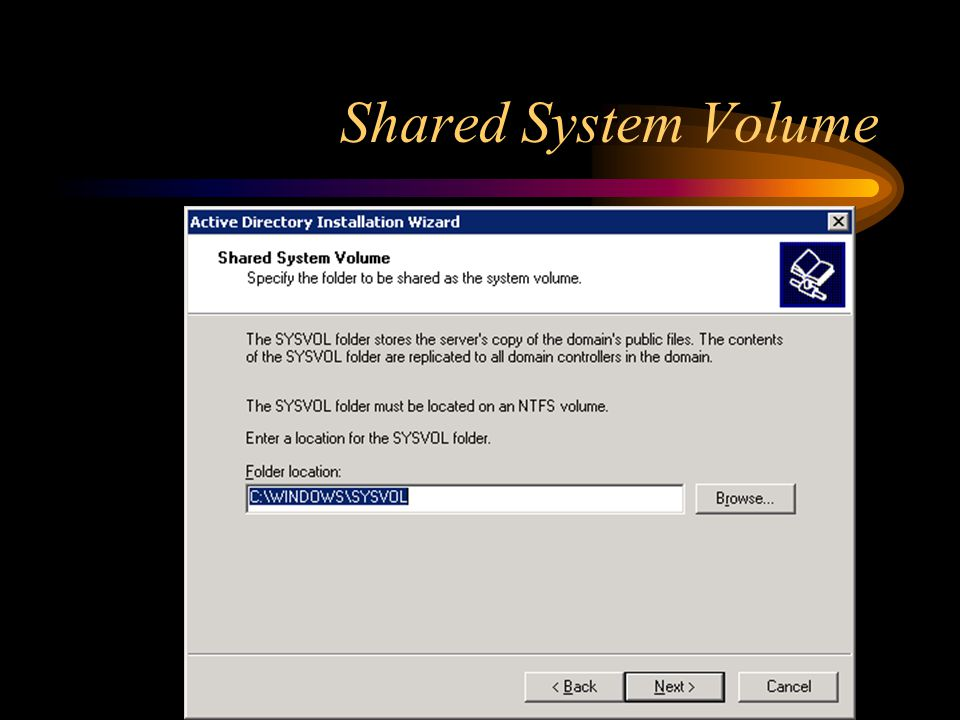 Shared System Volume