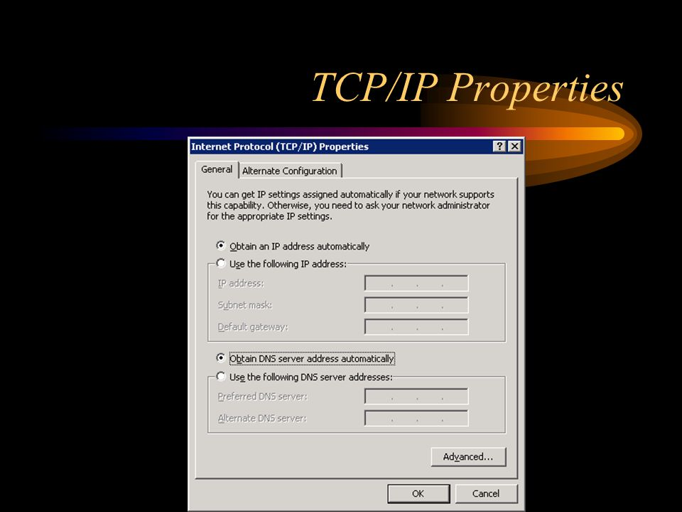 TCP/IP Properties