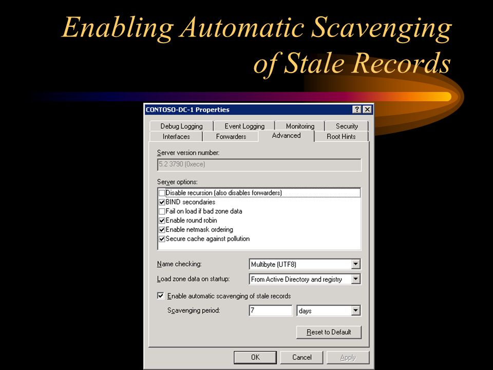 Enabling Automatic Scavenging of Stale Records