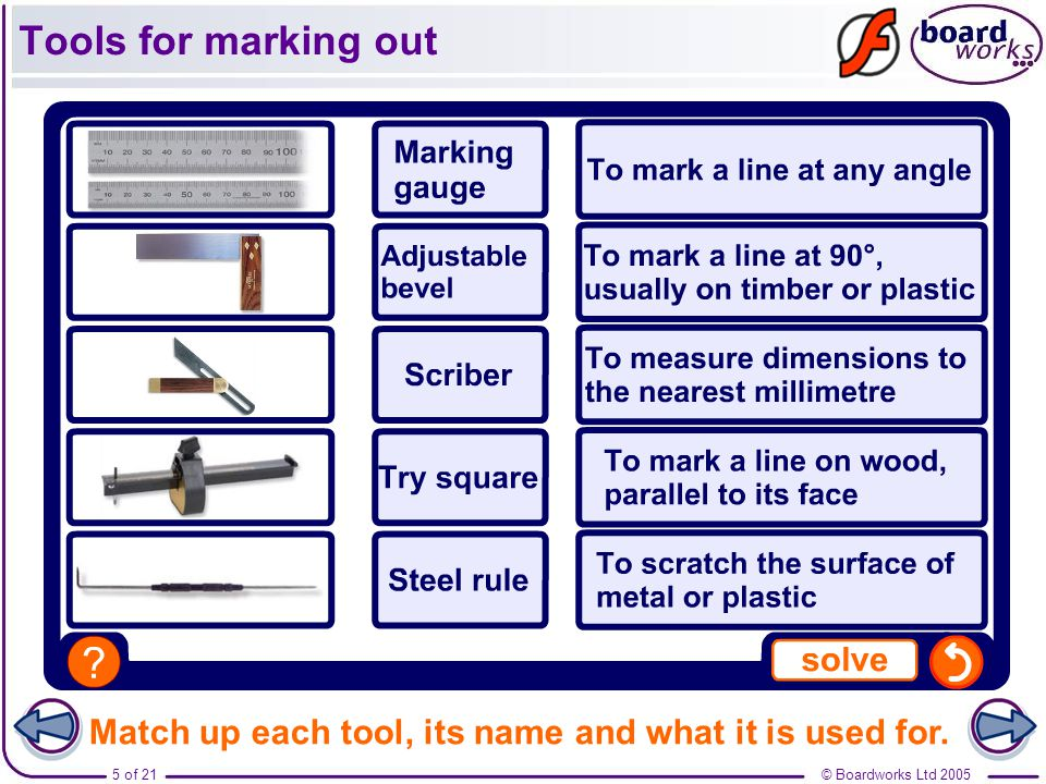 metal tools names. boardworks ltd 20055 of 21 match up each tool, its name and what it metal tools names