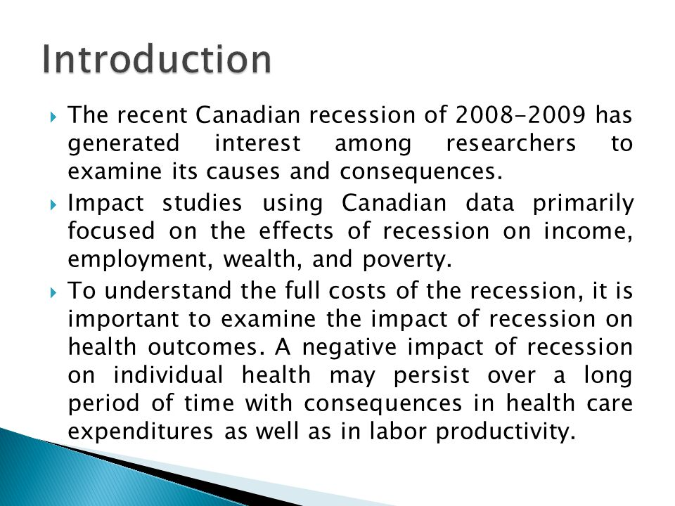 impact of recession and its effects
