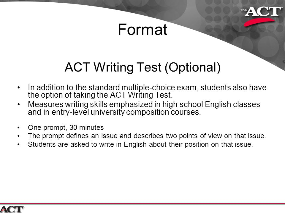 Should I take the optional writing portion of the ACT?