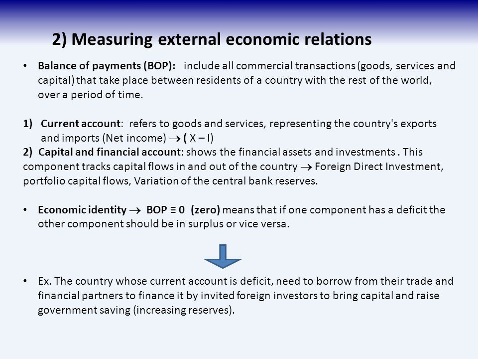 balance of payments and international economic The balance of payments and international economic linkages i had a trade deficit in 1986 because i took a vacation in france i didn't worry about it i enjoyed.