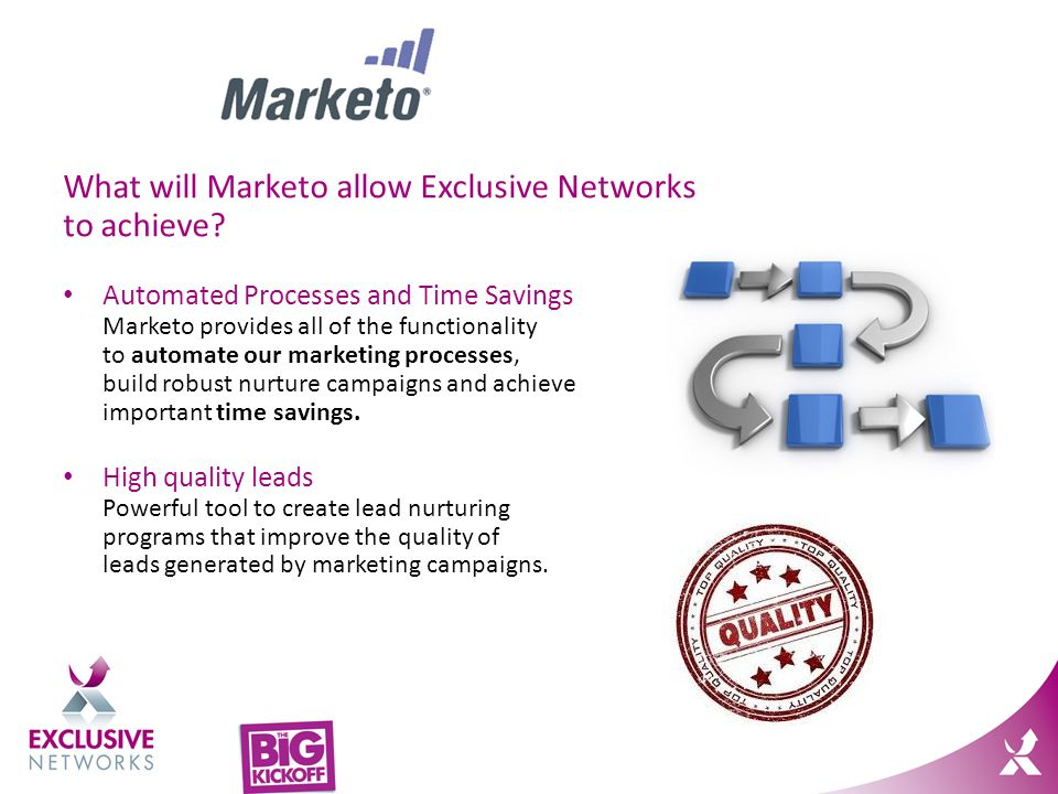 What will Marketo allow Exclusive Networks to achieve.