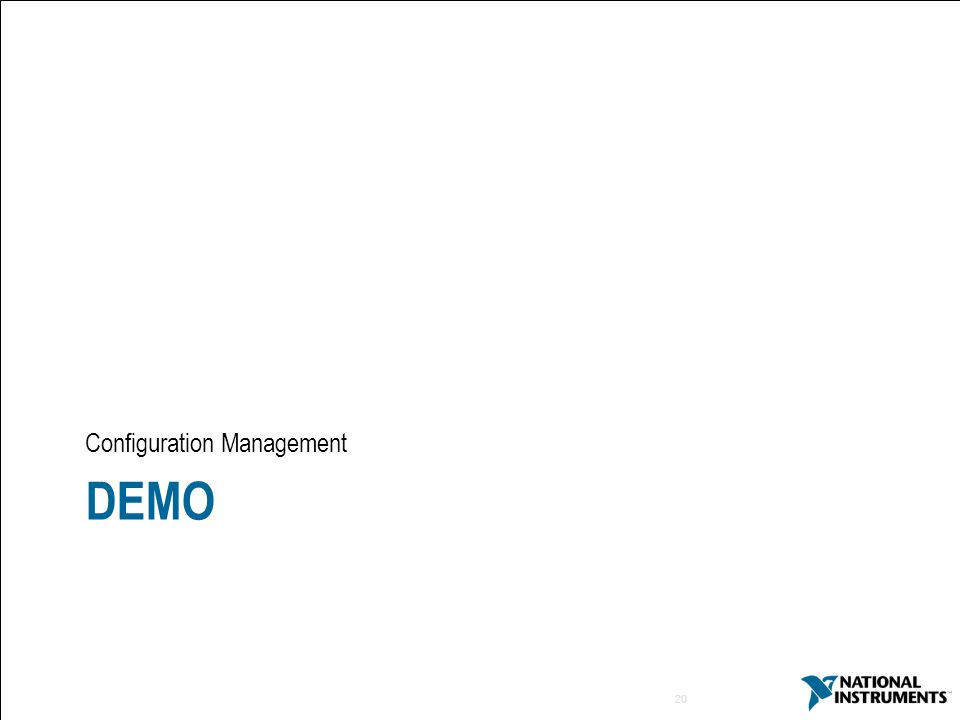 20 DEMO Configuration Management