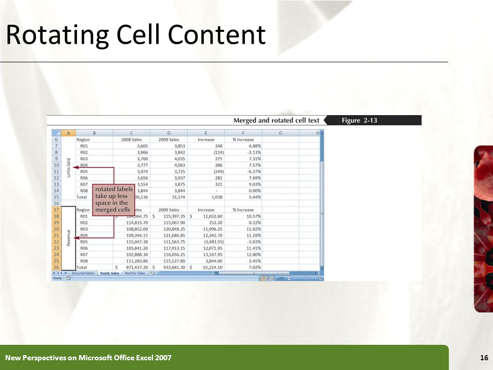 XP Rotating Cell Content New Perspectives on Microsoft Office Excel
