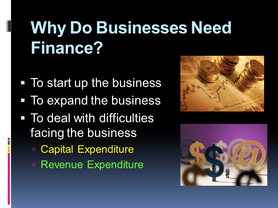 Why Do Businesses Need Finance.