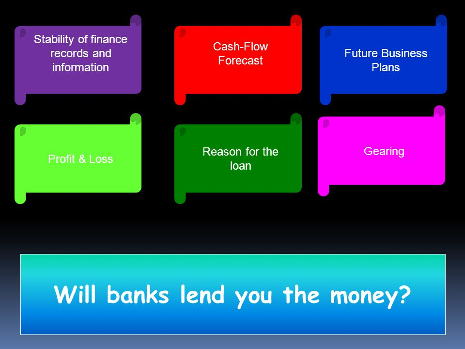 Will banks lend you the money.
