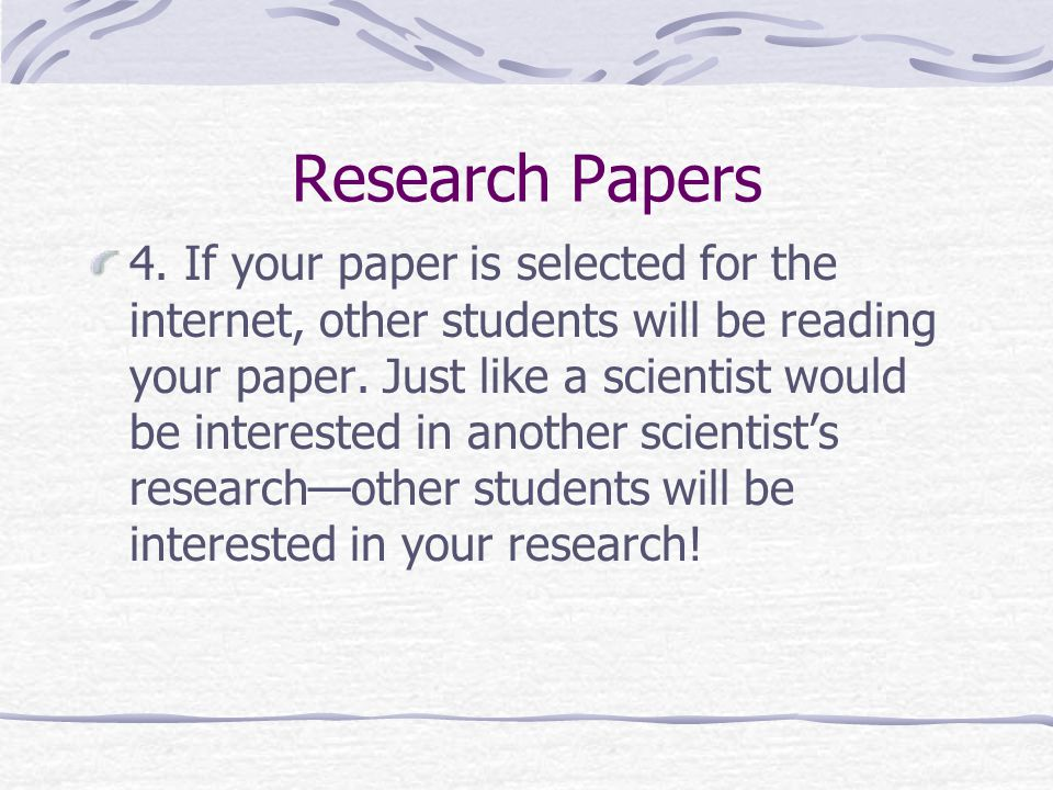 how to write high school research papers