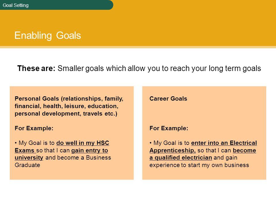 Personal Goal Essay
