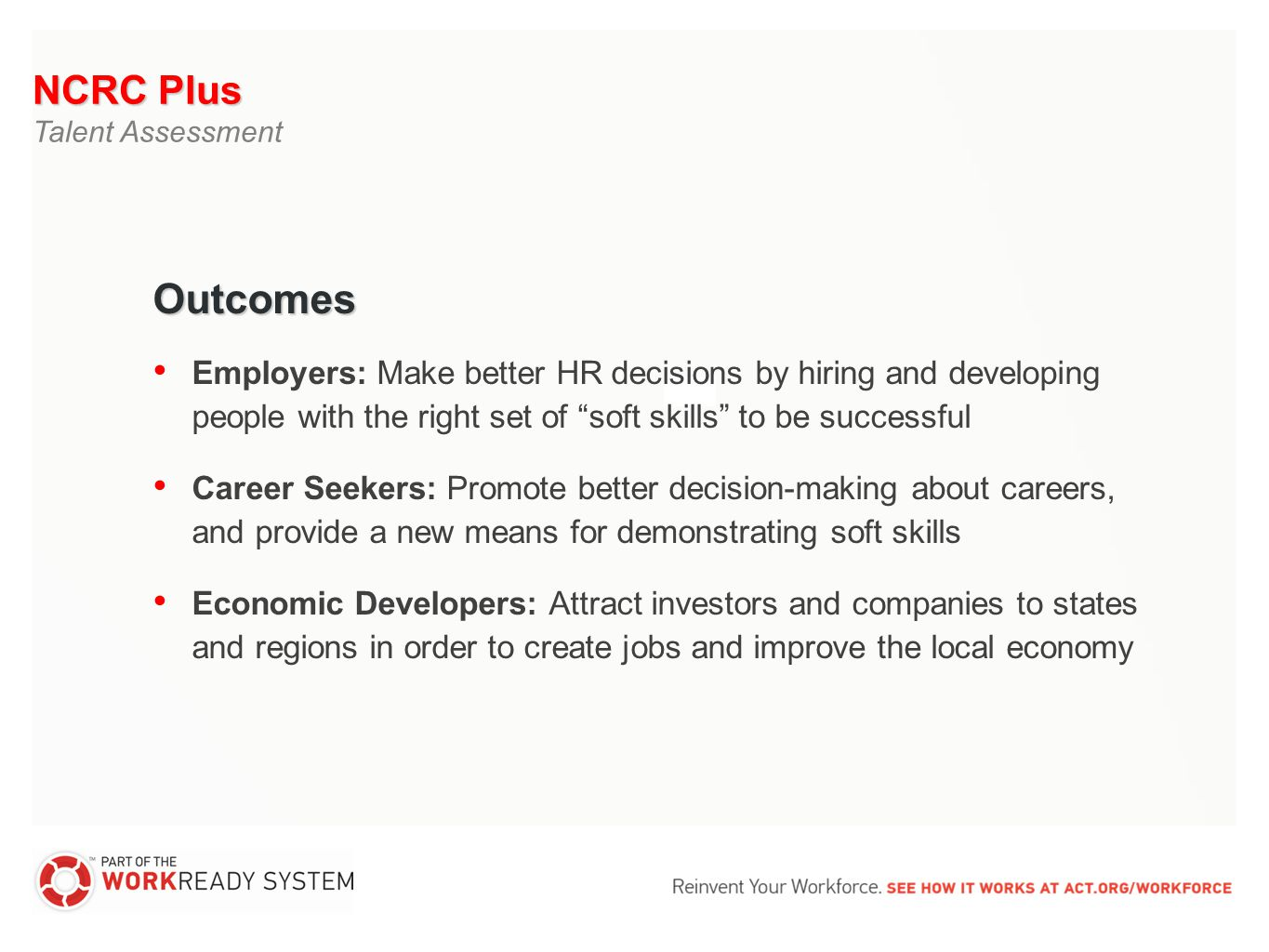 The national career readiness certificate issued by act is a 18 ncrc xflitez Choice Image