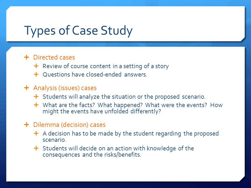 Case Study Answers Com