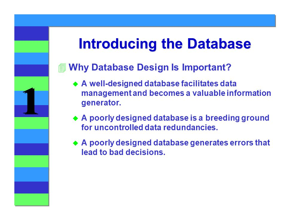 1 1 Introducing the Database 4Why Database Design Is Important.