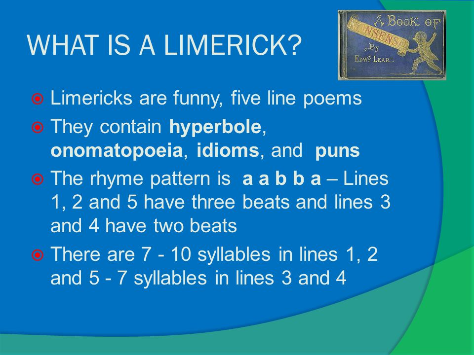 WHAT IS A LIMERICK.