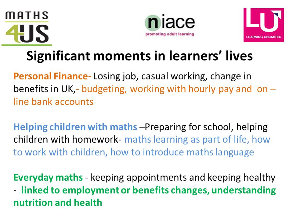 Learning Maths online: Everyday Maths, Everyday Finance, Helping ...