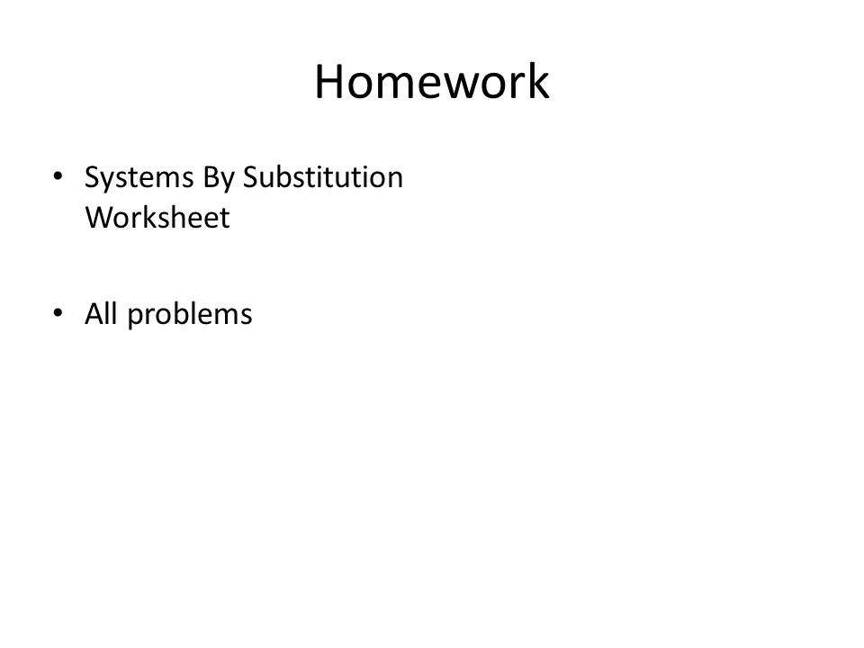 Solving Systems Of Equations By Substitution Worksheets – Solving Systems by Substitution Worksheet