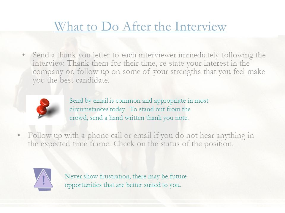 what to do after the interview follow up with a phone call or email if you - How Long After An Interview Should You Hear Back Or Follow Up With A Call