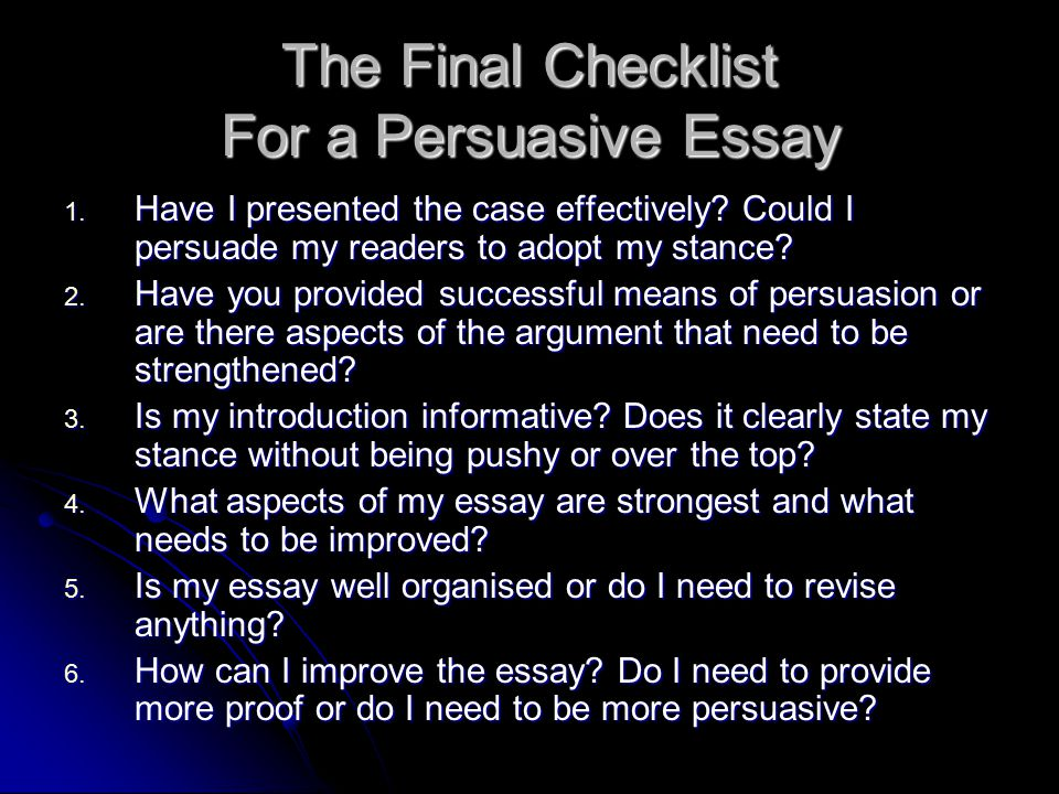Can you refer to yourself in a persuasive essay?