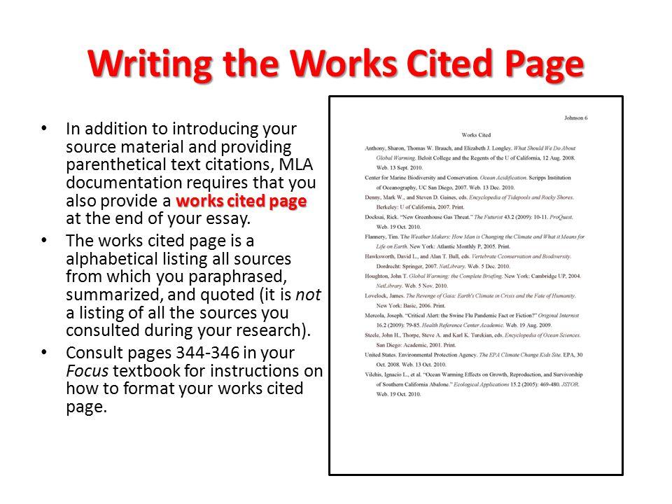 Citation In Essay