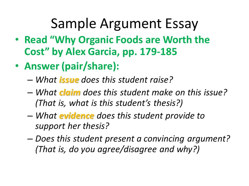 against organic food essay Arguments for and against genetically modified food this essay arguments for and against genetically modified food and other 64,000+ term papers, college essay examples and free essays are available now on reviewessayscom.
