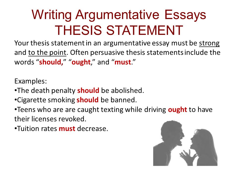 thesis for argumentative paper