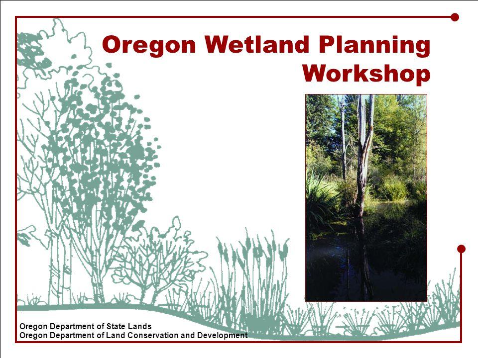 Oregon Wetland Planning Workshop Oregon Department of State Lands Oregon Department of Land Conservation and Development