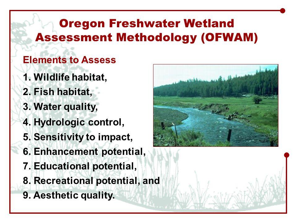 Oregon Freshwater Wetland Assessment Methodology (OFWAM) 1.