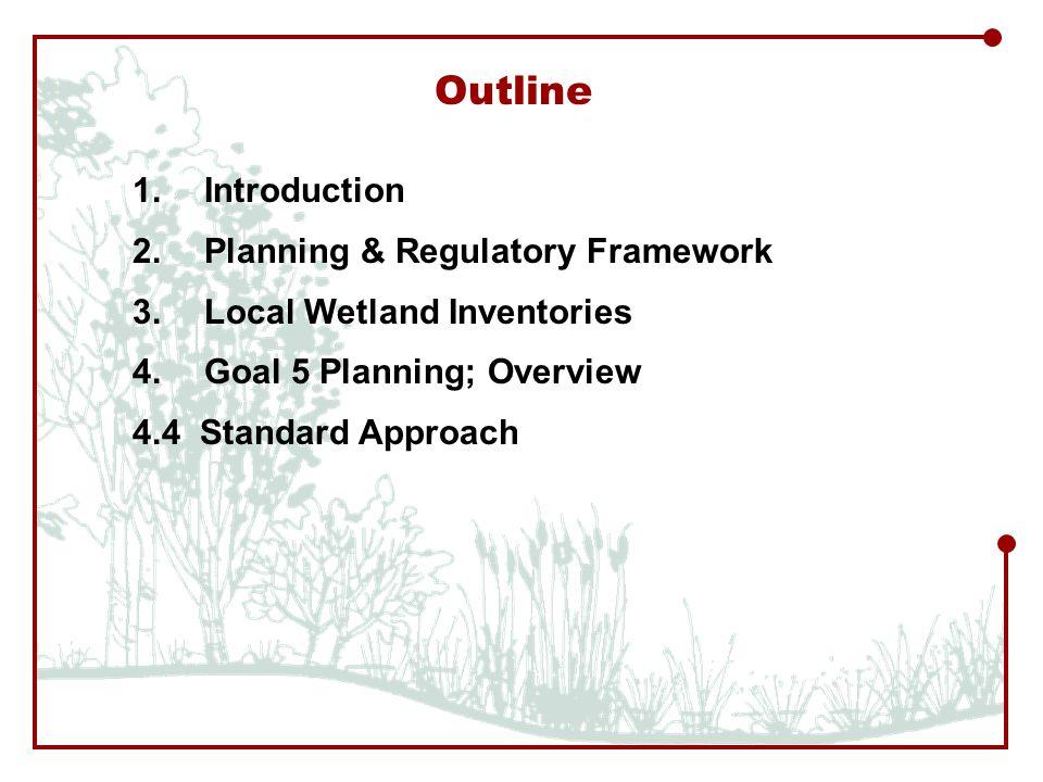 Outline 1.Introduction 2.Planning & Regulatory Framework 3.
