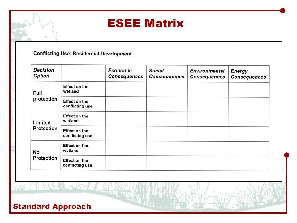 ESEE Matrix Standard Approach