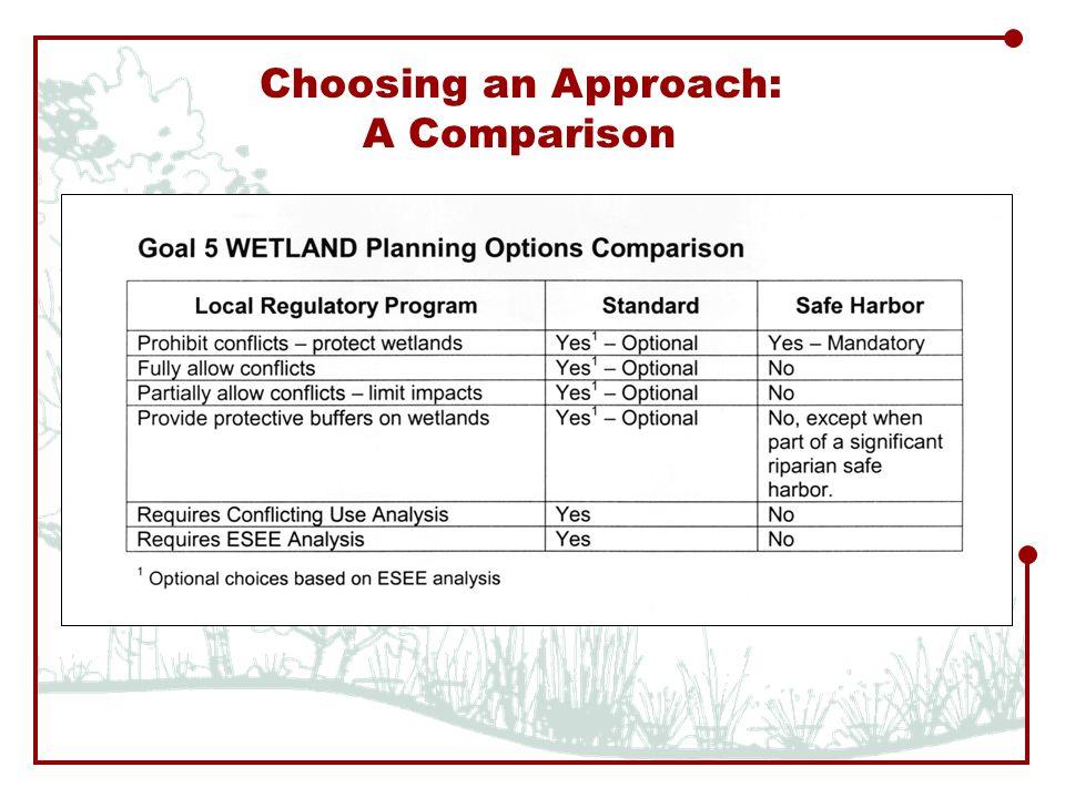 Choosing an Approach: A Comparison