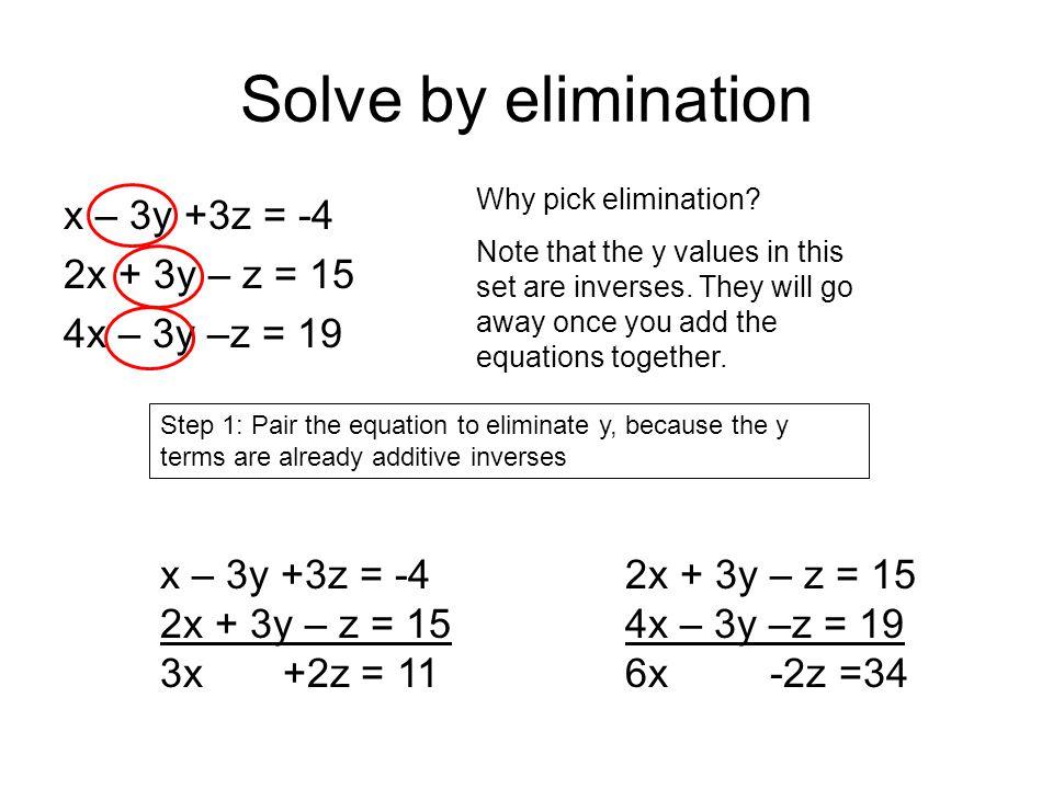 Solve Equation By Elimination - Tessshebaylo