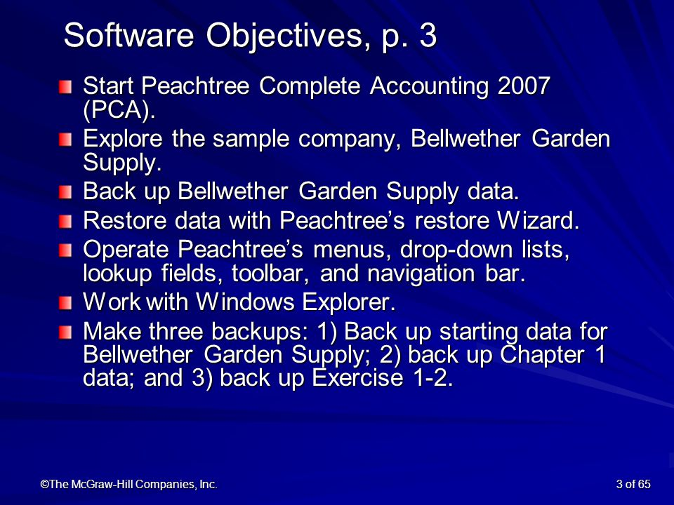 ©The McGraw Hill Companies, Inc.3 Of 65 Software Objectives, P