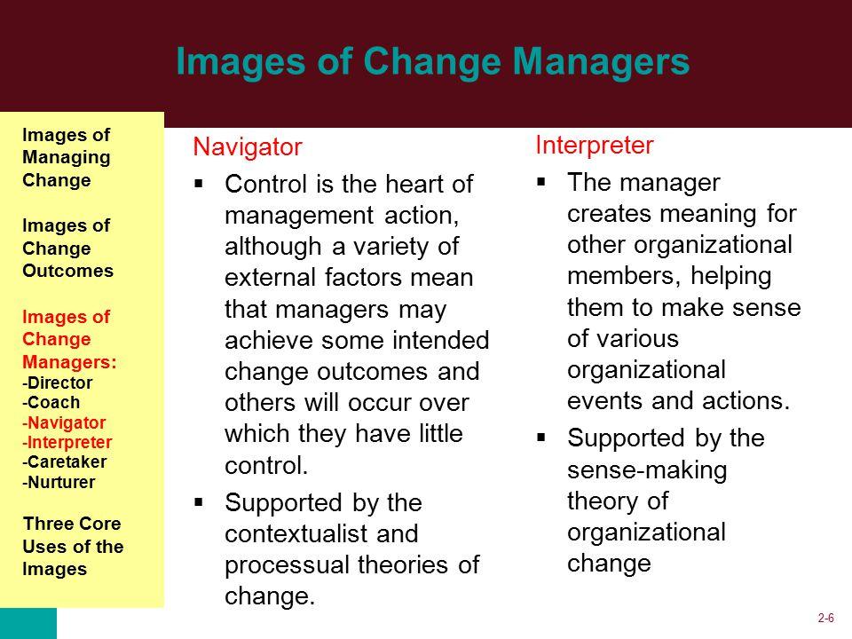 change manager as caretaker