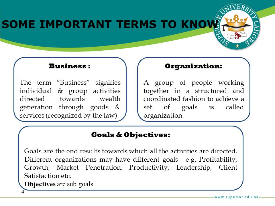 """4 Business : The term """"Business"""" signifies individual & group activities directed towards wealth generation through goods & services (recognized by th"""