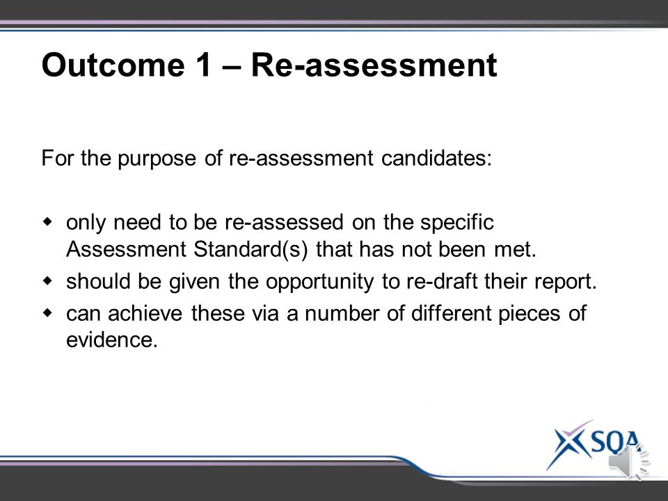 Evidence Requirements: Assessment Standard 1.6 Evaluating experimental procedures:  National 4 – provide one possible improvement.