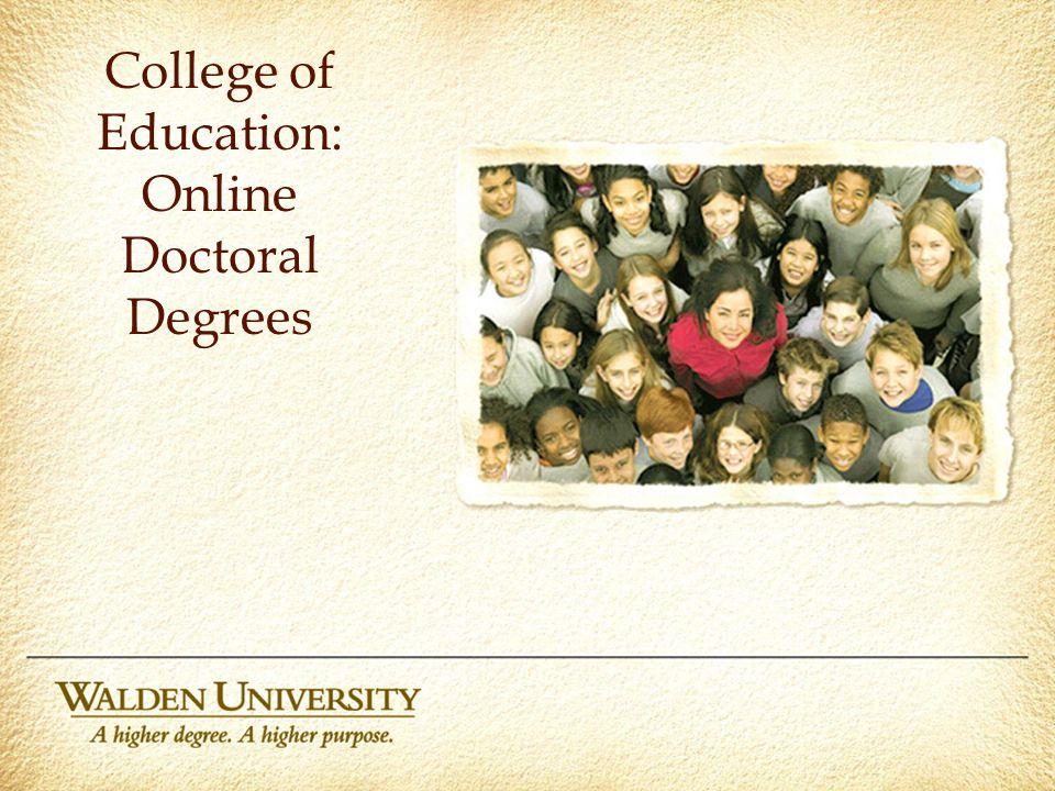 Walden university online phd