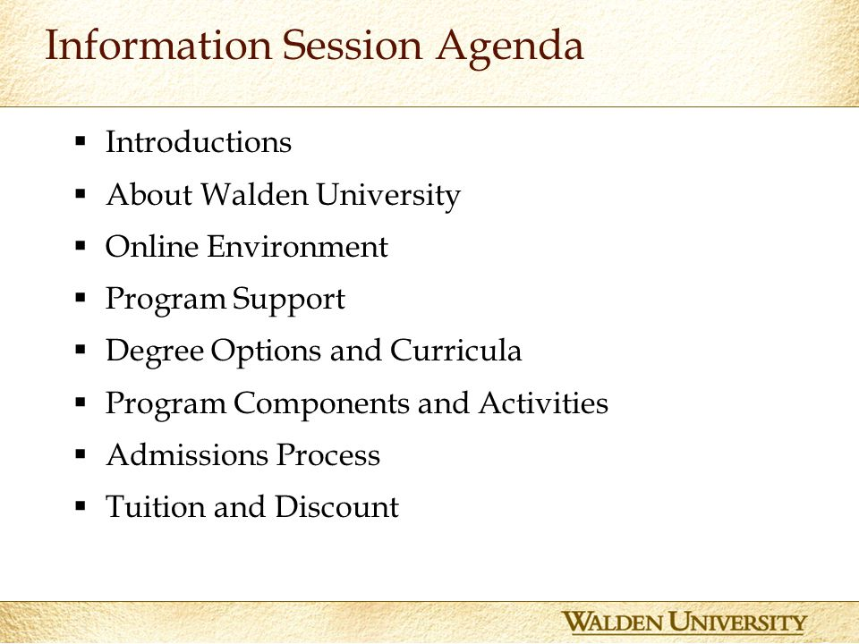 Walden degrees