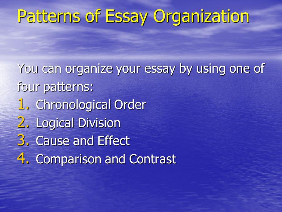 Essay using chronological order