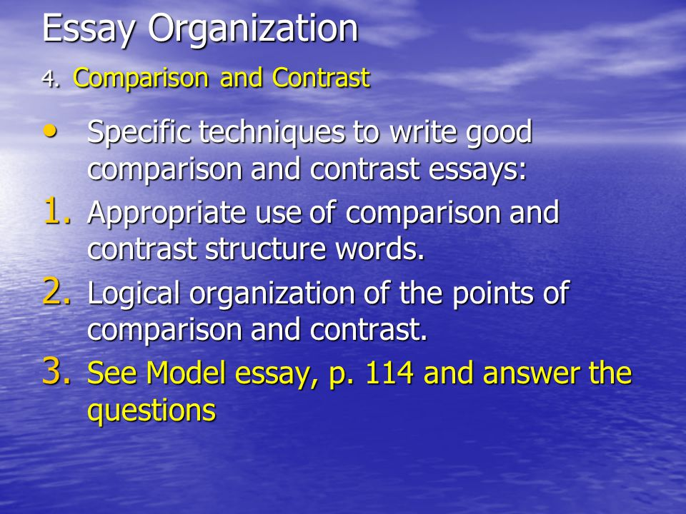 Model Compare And Contrast Essay